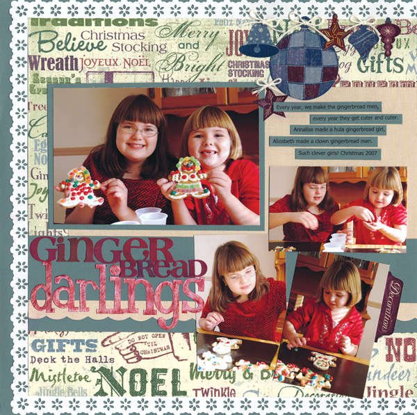 Gingerbread Darlings Layout