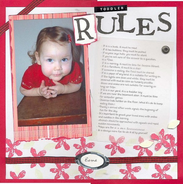 Toddler Rules - DW 2005 Scraplift Challenge