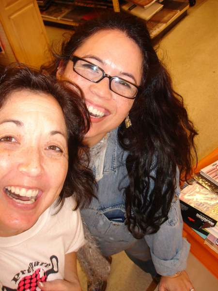 Donna Salazar and Me (almost midnight!)