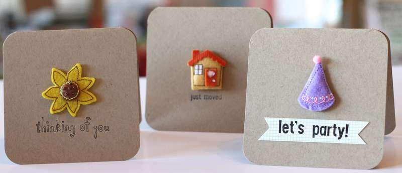 Simple Cards-Stamps & Puffies