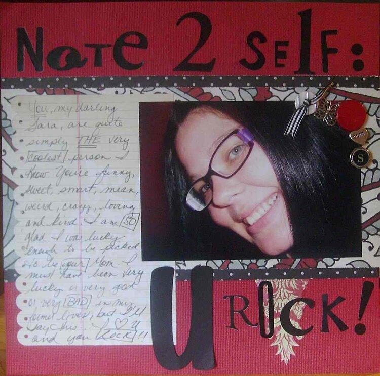 Note 2 Self: U Rock