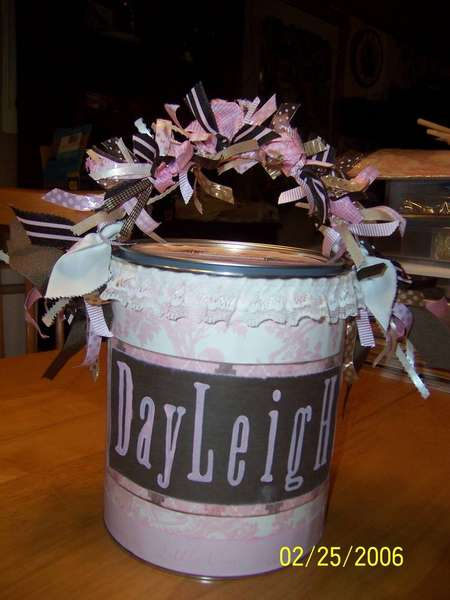 Baby Shower Altered Paint Can