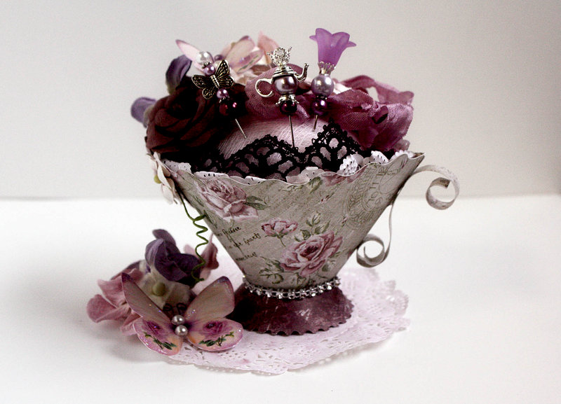 Teacup Stick Pin Holder *Swirlydoos Kit Club*