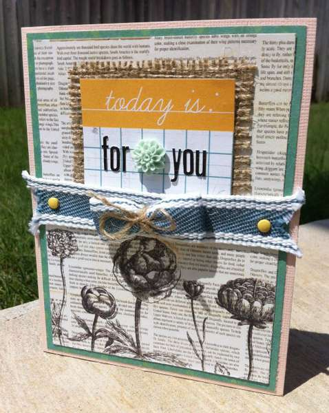 today is: for you  **The Sampler April 2012 kit**