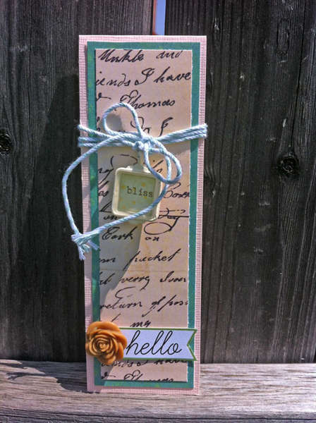 hello bookmark card **The Sampler April 2012 kit**
