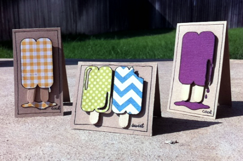 popsicle mini cards !