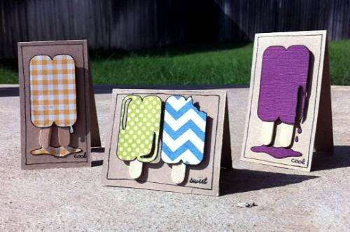 popsicle mini cards !