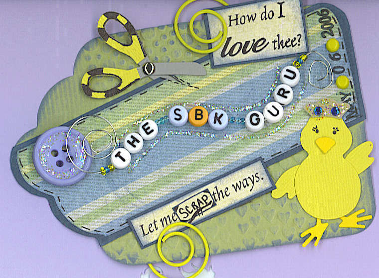 The Scrapbook Guru Name Tag