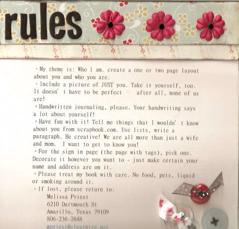 Circle Journal Rules