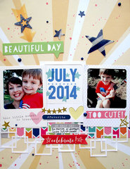 ~ beautiful day ~ **Elle's Studio July kit**