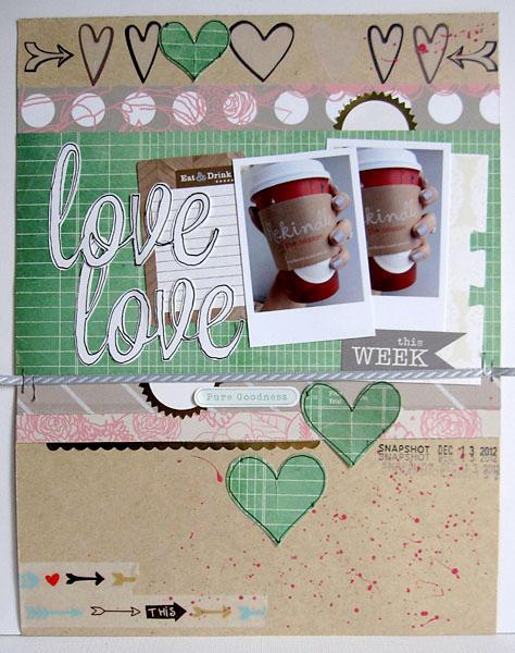 ~ love ~ Scrapbook Circle January kit