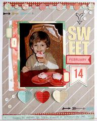 ~ sweet ~ Scrapbook Circle January kit