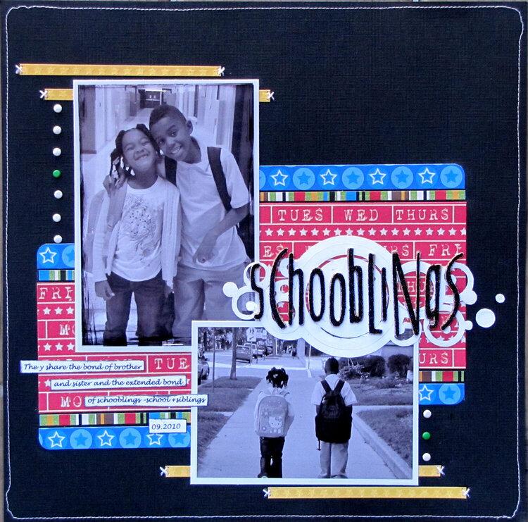 Schooblings (school +siblings)