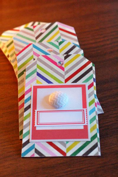 chevron gift tags