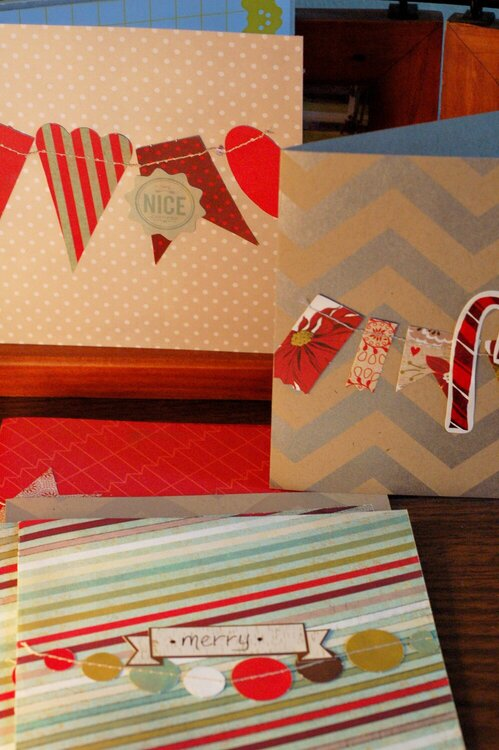 garland holiday cards