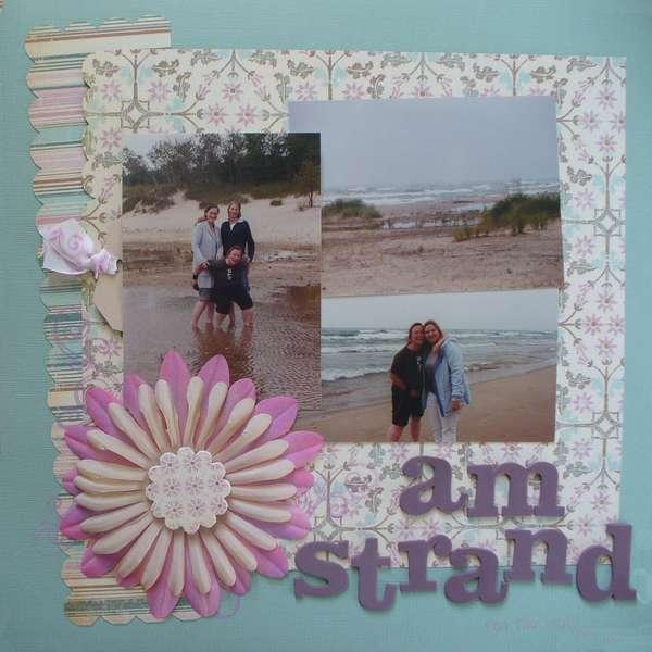 am strand - on the beach