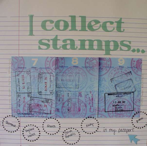I collect stamps....