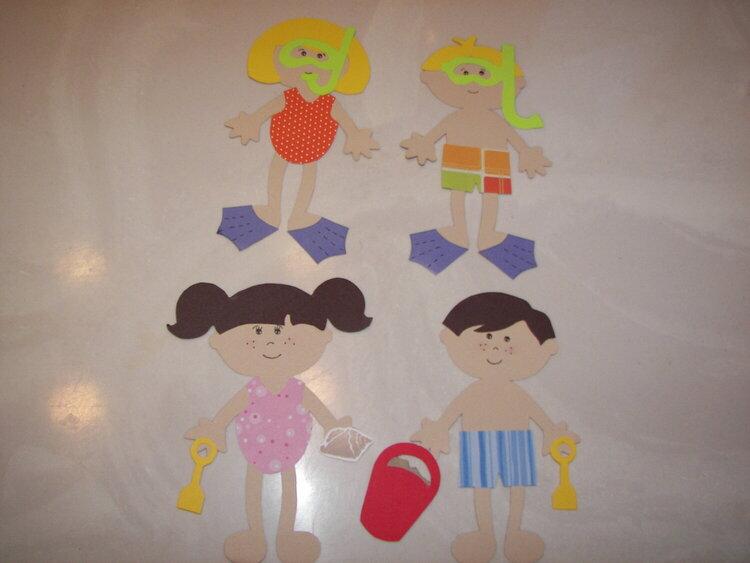 Dolls - scuba kids, beach kids