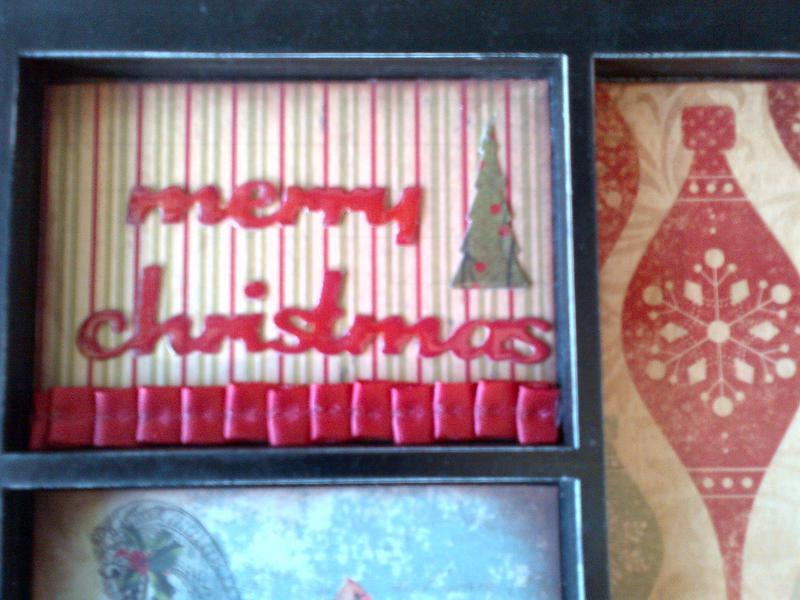Detail - Merry Christmas frame