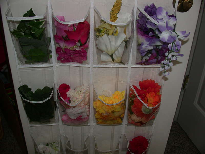 Flower storage  Close-up view