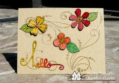 Prismacolor flowers on Kraft