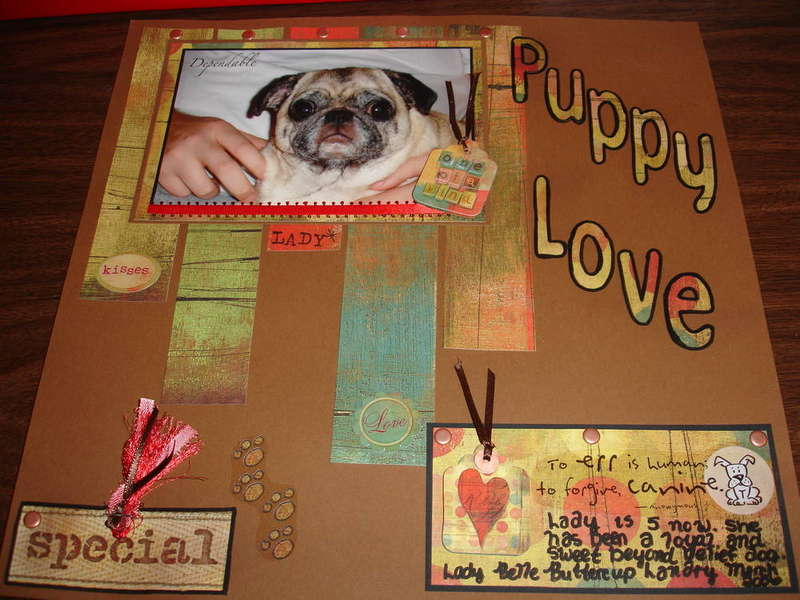 Puppy Love- May Mini Sketch Challenge and May Keyword Challenge