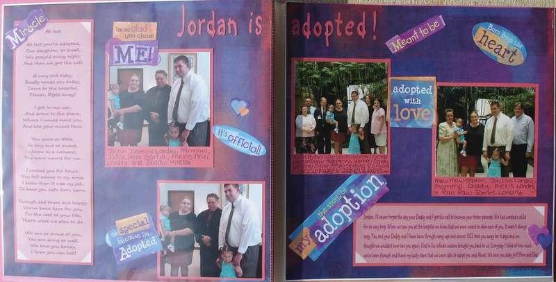 Jordan is adopted!