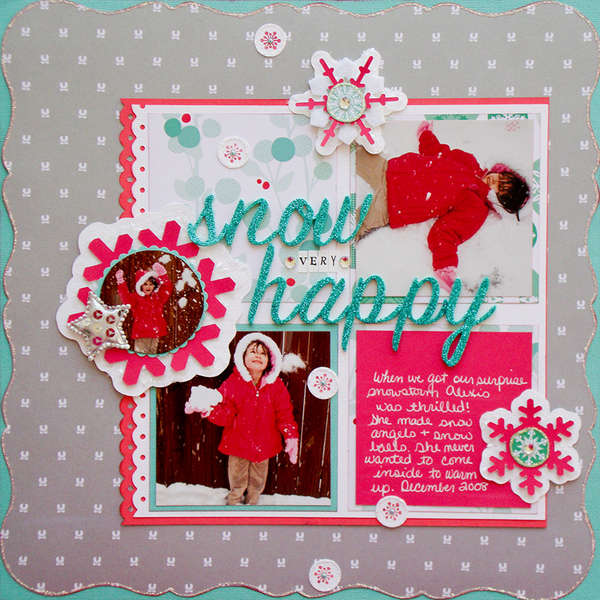 Snow Very Happy (Scraptastic Club)