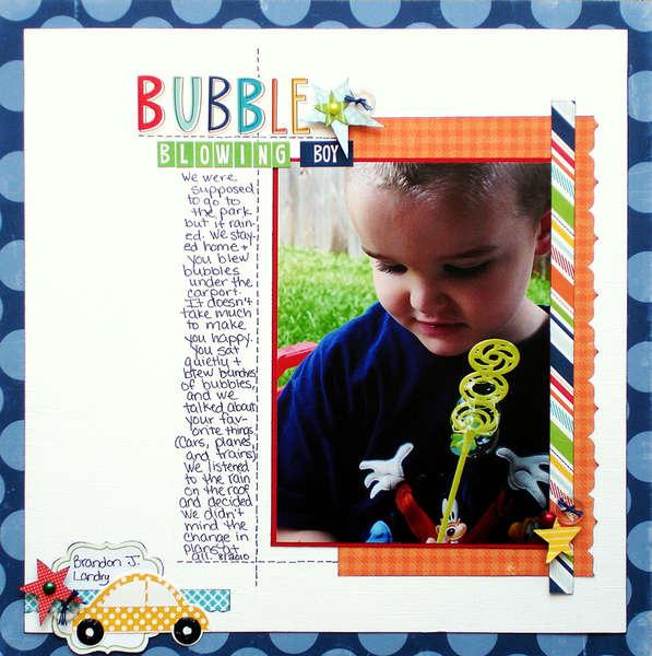 Bubble Blowing Boy NSBD Handwritten Note Challenge