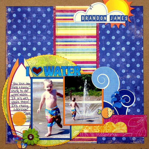 I Love Water (Scraptastic Club)
