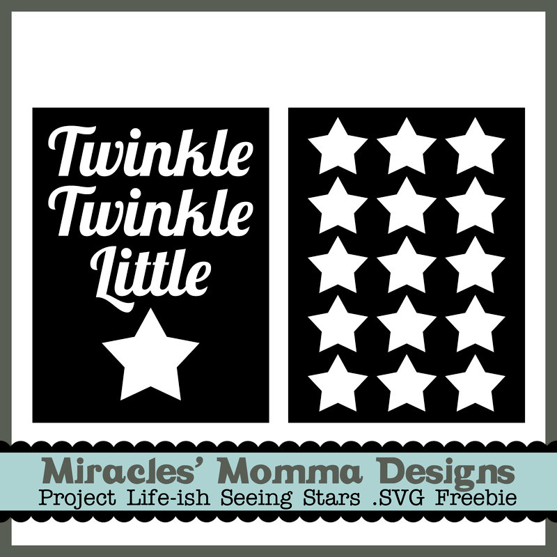 Free Star SVG Cards (Baby/Kid)