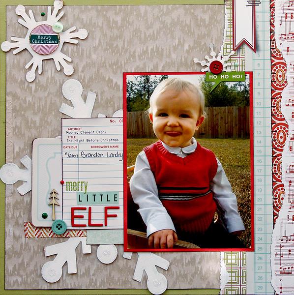 Merry Little Elf (Scraptastic Club)