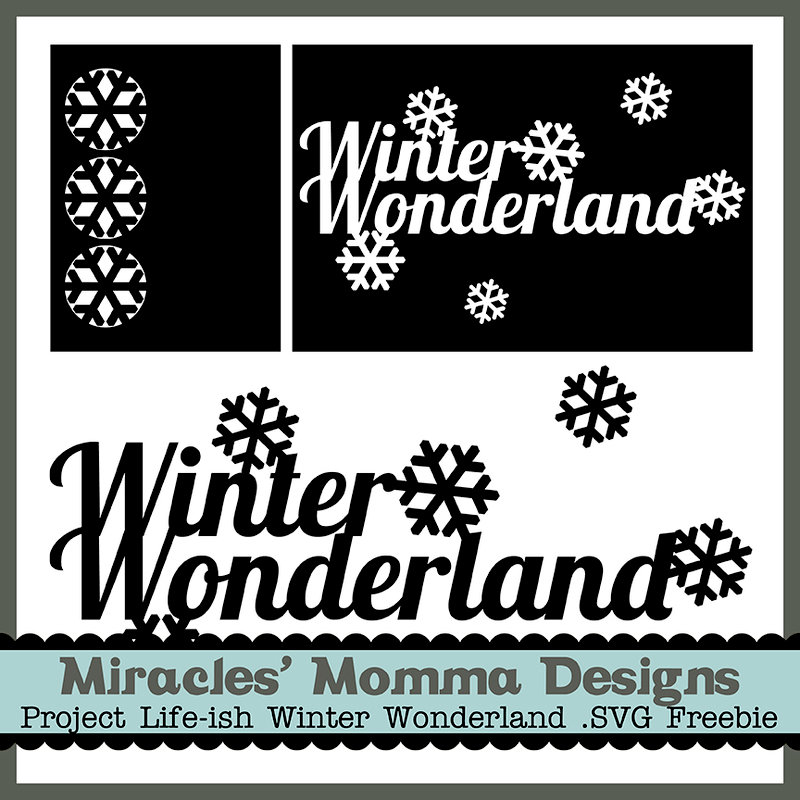 Winter Wonderland SVG Freebie