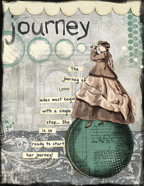 Journey (Jessica Sprague's Digital Art Journaling Class)