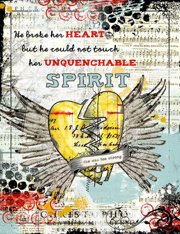 Broken Heart (Digital Art Journaling Assignment 1)