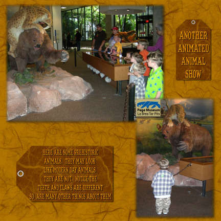 La Brea Tar Pits-Another Animated Animal Show