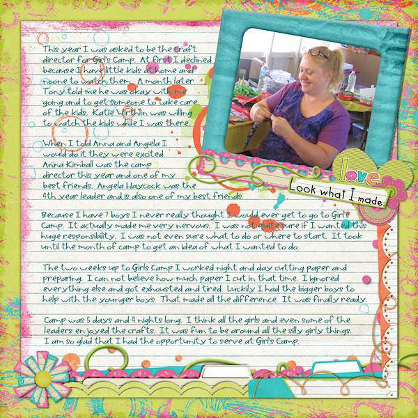 Girls Camp Crafts page 1