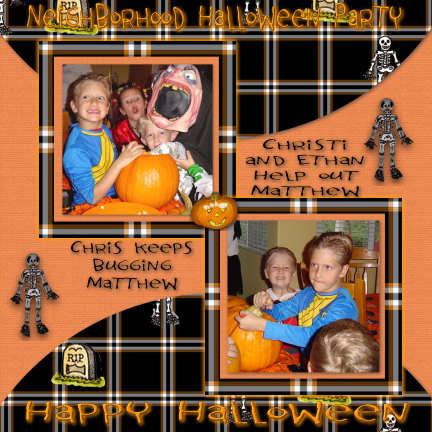 Neighborhood Halloween Party 2003