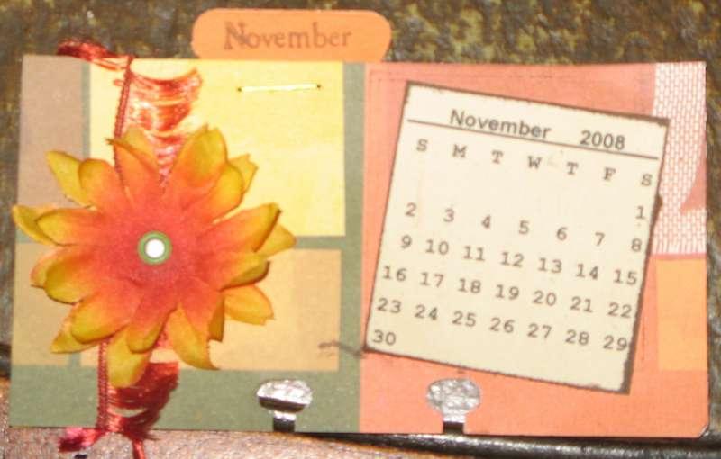 Rolodex card for calendar swap