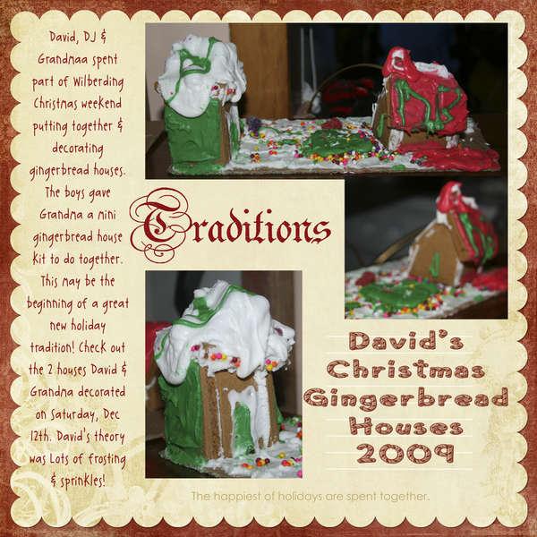 David's Christmas Gingerbread House