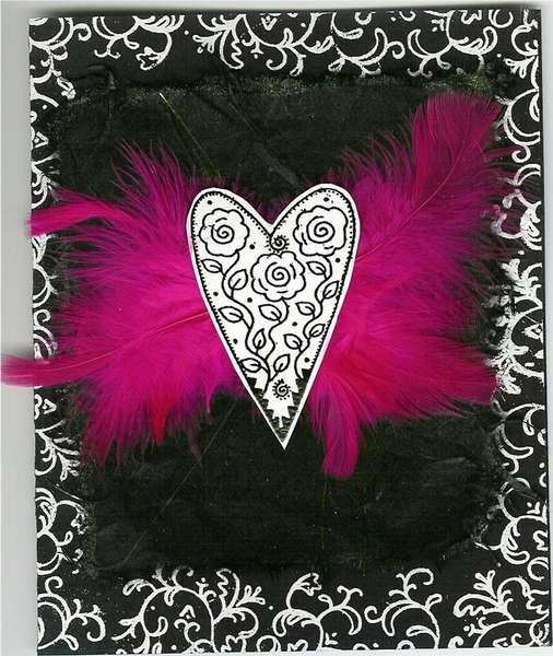 feather Valentine card