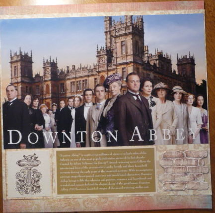 Downton Abbey characters, castle in background