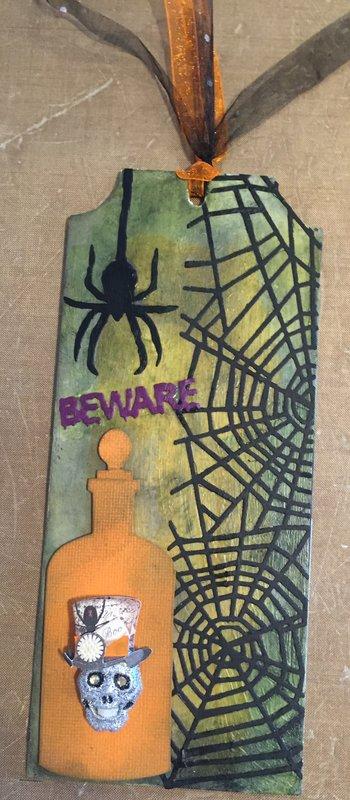 Halloween card tag
