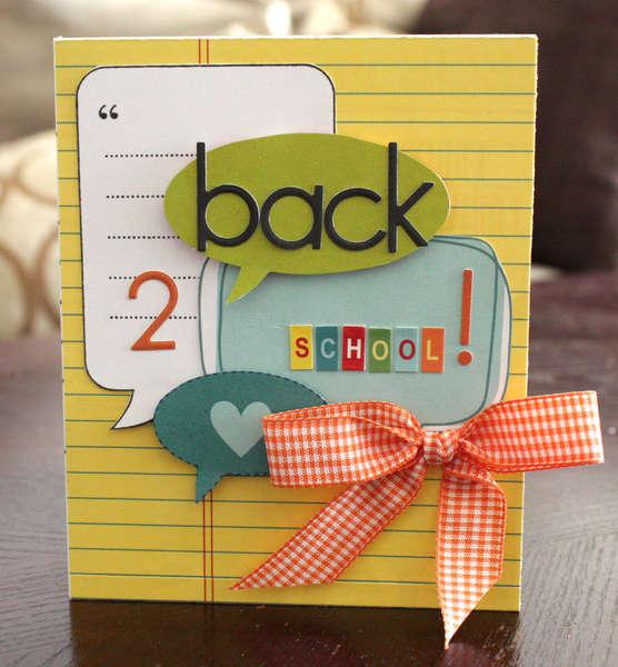 Back 2 School card