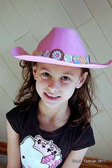 Altered cowgirl hat *Glue Arts*
