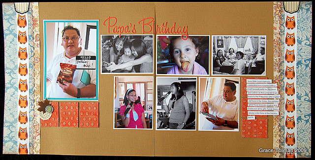 Papa's birthday *November Crazy Daisy kit*