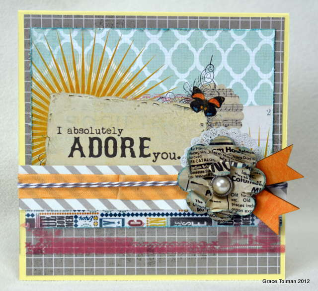 I absolutely ADORE you card *Paper Bakery March Add On kit*