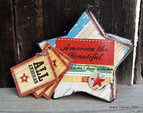 America the beatiful mini album *July Crazy Daisy kit*