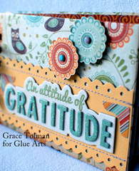 Attitude of Gratitude mini *Glue Arts* 2