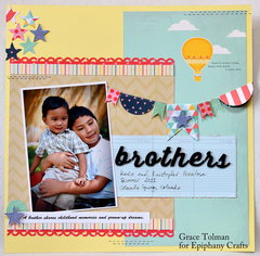 Brothers layout *Epiphany Crafts*
